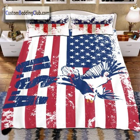 Us Flag Bedding Set Bed Sheets Covers Pillows Bedding Sets