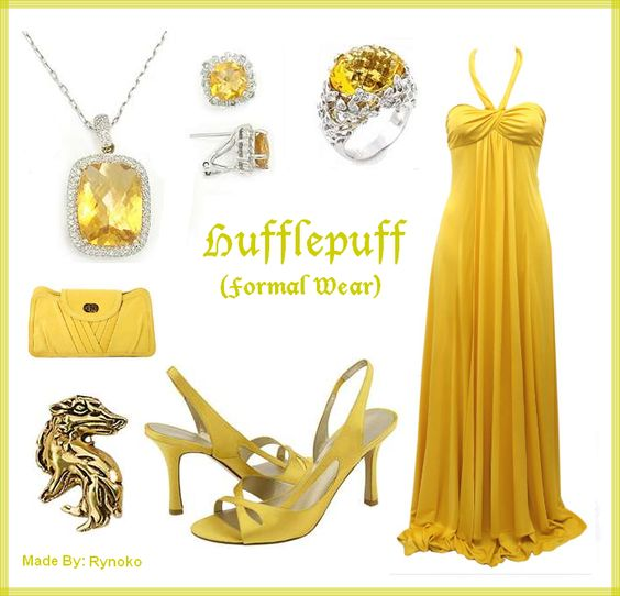 Hufflepuff Formal Wear - put together by Rynoko (me=StephieDriver)! :D