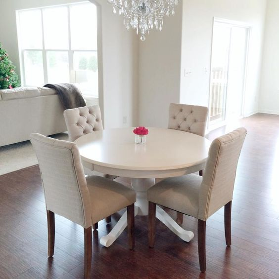 White Kitchen Tables And Chairs: Brookline Tufted Dining Chair - Threshold™