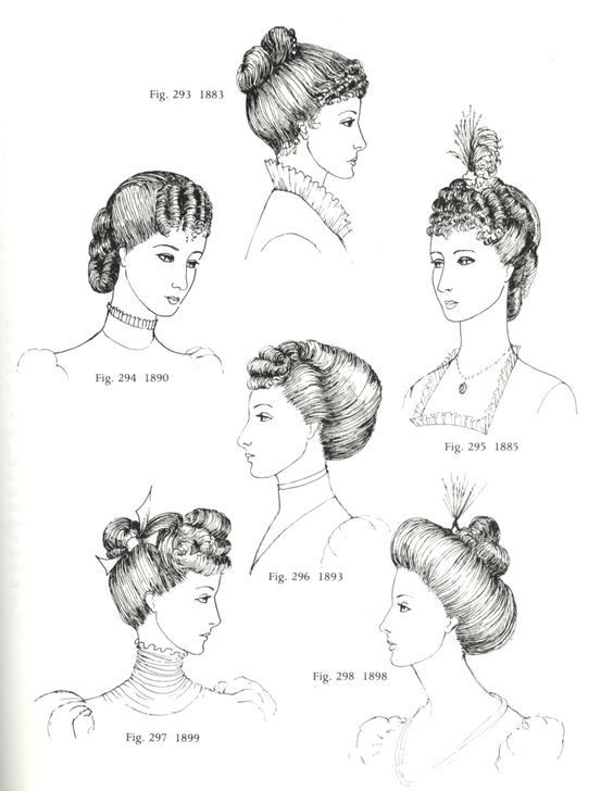 Image detail for -... 1880-1900 aus:G.de Courtais, Women's Hats, Headdresses and Hairstyles