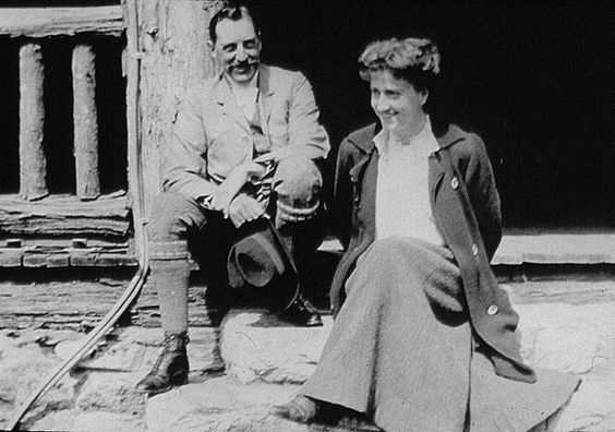 George and Edith Vanderbilt at Bucksprings Lodge:
