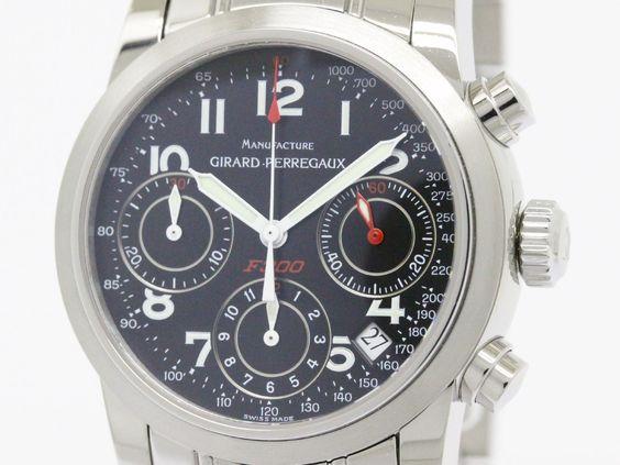 Polished GIRARD PERREGAUX Ferrari Chronograph F300 Watch 8020 (BF087110) 2000 USD