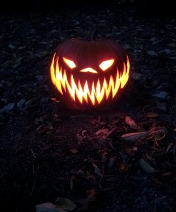 Carve a pumpkin like this :):