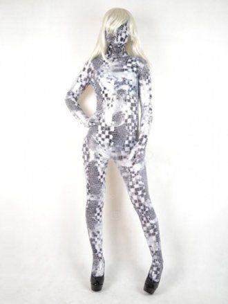 Purple Snake Skin Spandex Lycra Unisex Zentai Suit |Snake Zentai