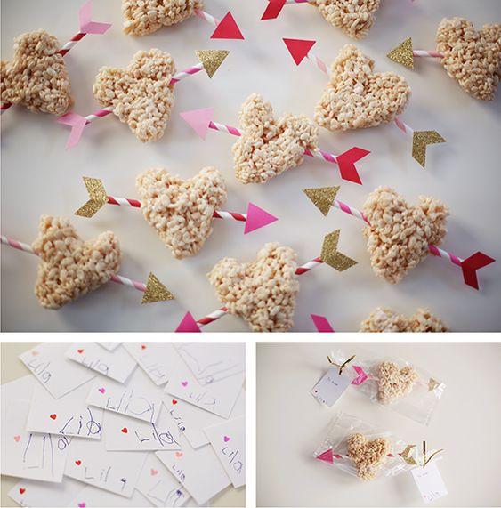pinksugarland: rice krispie treat valentines