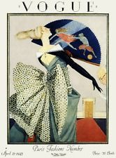 Art Deco Fashion Formal 1920's 30's magazine cover art poster print SKU2507