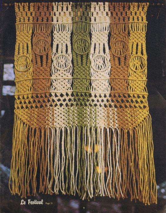 macrame patterns | Macrame Elegance Room Divider Pattern - Vintage Patterns Dazespast ...