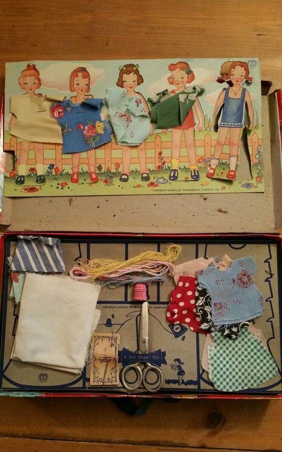Vintage little traveler sewing kit