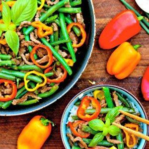 Asian Beef and Green Bean Stir-fry #SundaySupper