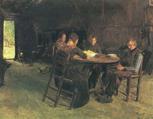 Max Liebermann - East Frisian farmers at the Grace