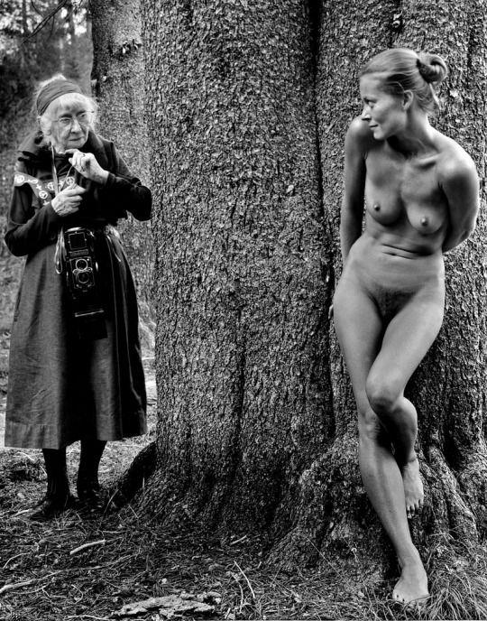 JoeInCTImogen and Twinka at Yosemite by Judy Dater, 1974