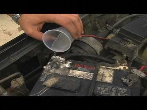 Car Maintenance How To Clean A Car Battery With Water And Baking Soda And An Old Toothbrush Howtoreconditionoldcar Car Battery Repair And Maintenance Repair