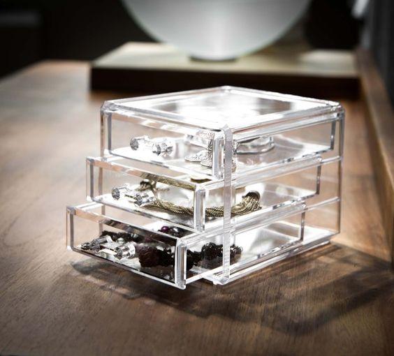 Coffret range-bijoux 3 tiroirs