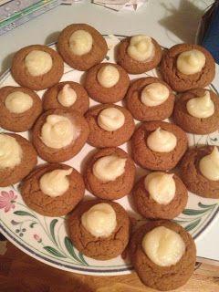 Favorite Holiday Cookies! Gingerbread Cheesecake Cookies