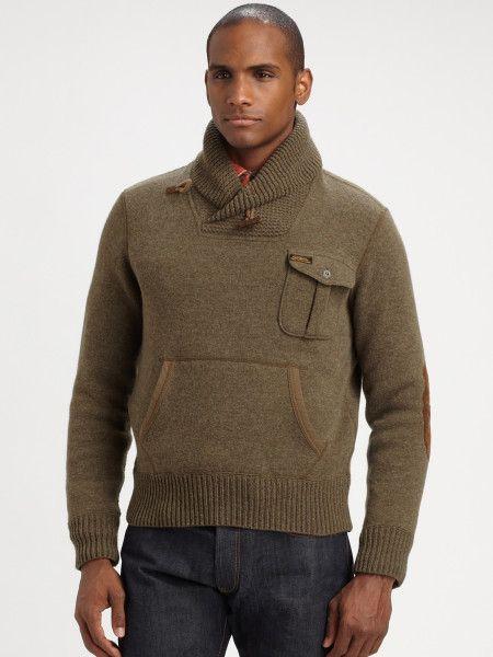 Polo Ralph Lauren shawl collar Sweater   Polo Ralph Lauren Shawl Collar Cardigan in Green for