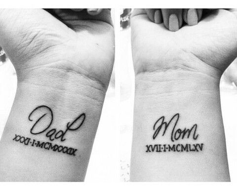 tattoo, dad, and mom image