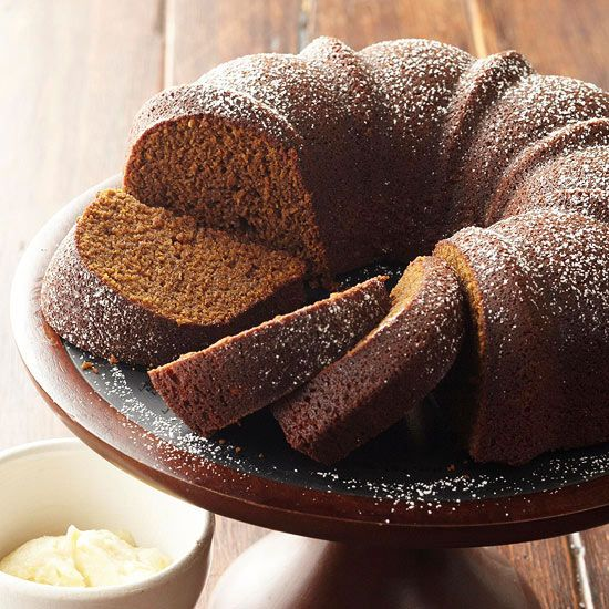 This rich Gingerbread get its flavor from stout beer. Recipe: http://www.bhg.com/recipe/stout-gingerbread-with-lemony-hard-sauce/?socsrc=bhgpin092112stoutgingerbreadcake
