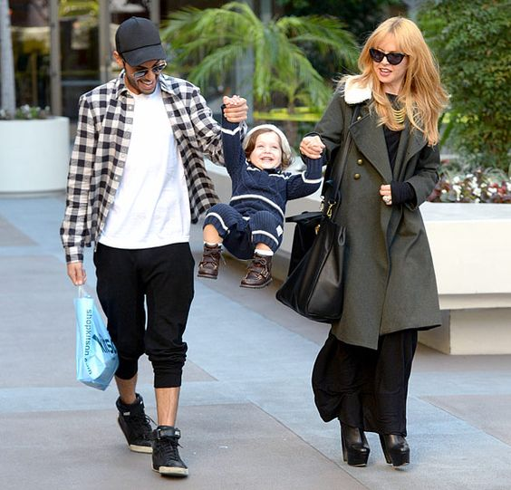 Rachel Zoe and her assistant swung her son Skyler after a shopping trip to Kitson Kids in L.A. Dec. 19.