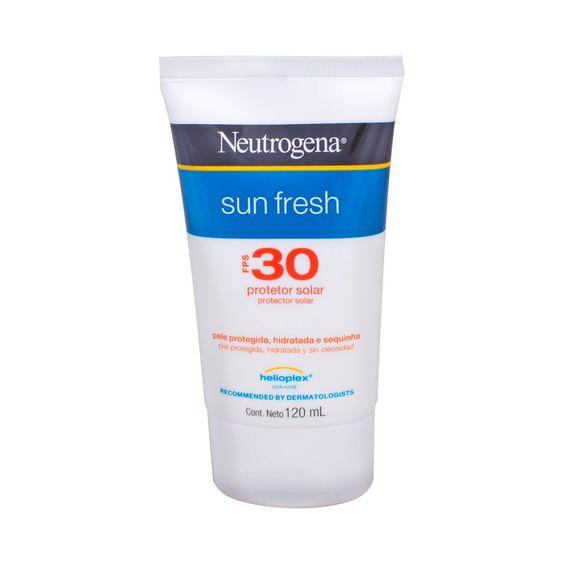 Protetor Solar Neutrogena Sun Fresh FPS 30 Loção - Uma dica super especial Além de protejer sua pele ele tem um toque seco, muito fácil de espelhar secar bem rapidinho e deixa você com cara de saúde - dica para meninos que não querem perder tempo e nem ficarem melecados.!