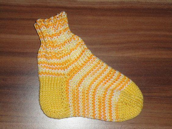 Sommer Baby  Socken Baumwolle 16-17  handgestrickt von ღ ஐ ❤ LenasBunteMaschen❤ ஐ ღ auf DaWanda.com