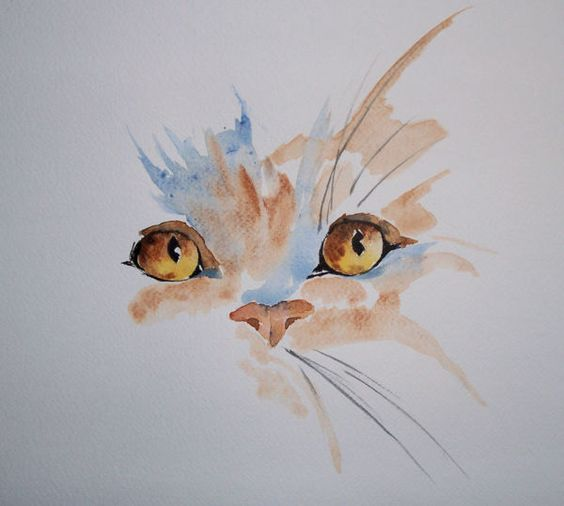 Aquarelle - simple cat                                                                                                                                                     More: