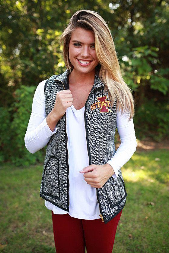 Iowa State University Herringbone Vest