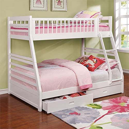 New Bowery Hill Twin Over Full Bunk Bed White Online Shopping In