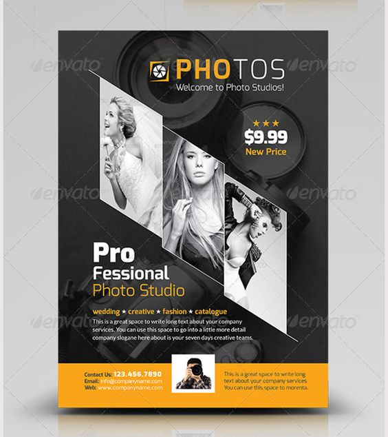 Photography Flyer Template Graphic Design Creative Layouts - photography flyer