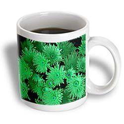 ($11.99) Pretty Green Floral Bouquet - 11oz Mug From 3dRose LLC