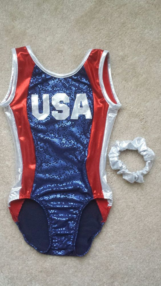 Let your gymnasts patriotism show when she wears this USA leotard. Made of high…