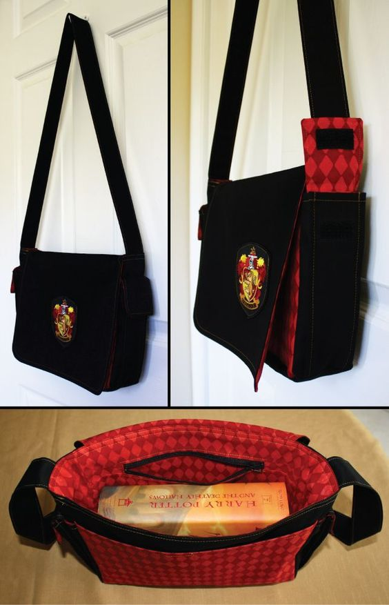 Grifinória bolsa / Harry Potter tema/acessórios |  Harry Potter theme / Harry Potter acessories / Gryffindor Bag