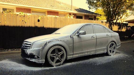 Mercedes Benz C280 Gyeon Q2M Foam #Mercedes_Benz #Mercedes #MercedesBenz #AMG #S_class