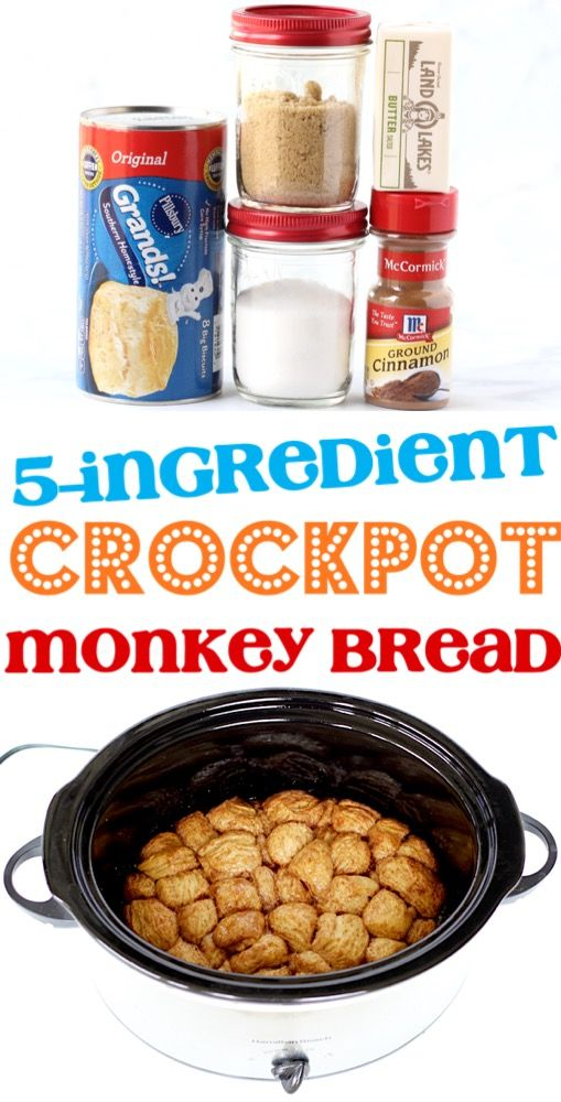 Monkey Bread Recipe with Canned Biscuits Recipe Easy Crockpot Recipe!