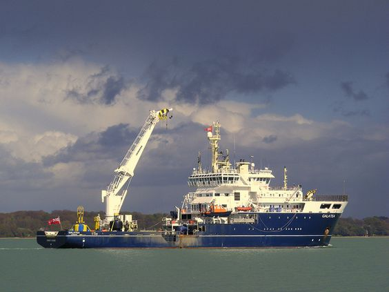 Galatea leaving Southampton by Hythe Eye, via Flickr