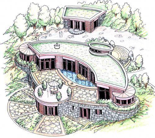 House Plans Partial With. Great Build Hobbit House Diy Hobbit House ...