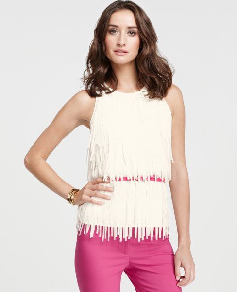 I love this Ann Taylor fringe top