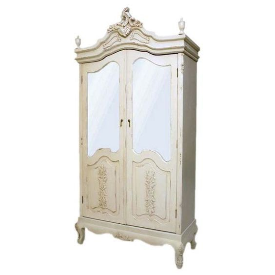 home kandi cream french shabby chic wardrobe armoire my love of timeless furniture. Black Bedroom Furniture Sets. Home Design Ideas