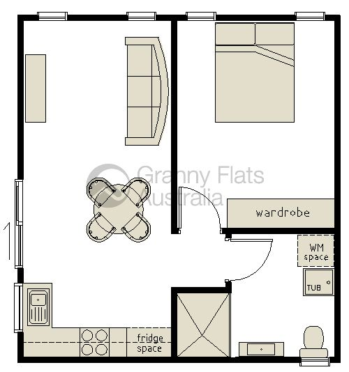 1 Bedroom Granny Flat Archives Granny Flats Australia Garage Conversion Granny Flat Convert Garage To Bedroom Small House Plans