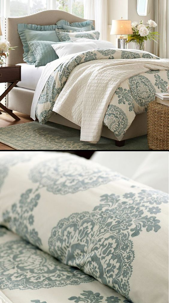 Pin By Susanne Back On Bedrooms Bedding Pinterest Guest Rooms Pottery And Silk Bedding