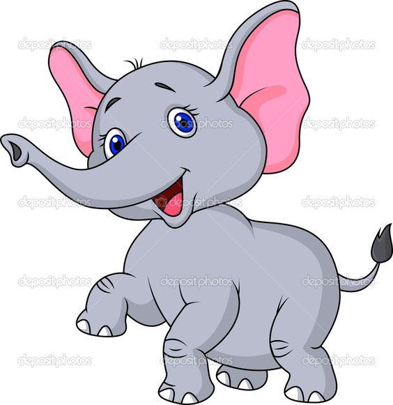 Caricatura lindo beb elefante vector stock tigatelu - Fotos de elefantes bebes ...