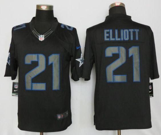 Dallas Cowboys #21 Ezekiel Elliott Impact Limited Black