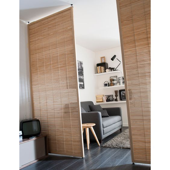 Espaces confin s mobiles and google on pinterest for Cloison chambre salon