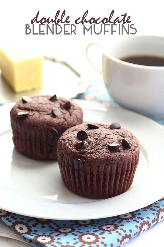 double chocolate blender muffins recipe muffins almond flour and muffin cups. Black Bedroom Furniture Sets. Home Design Ideas