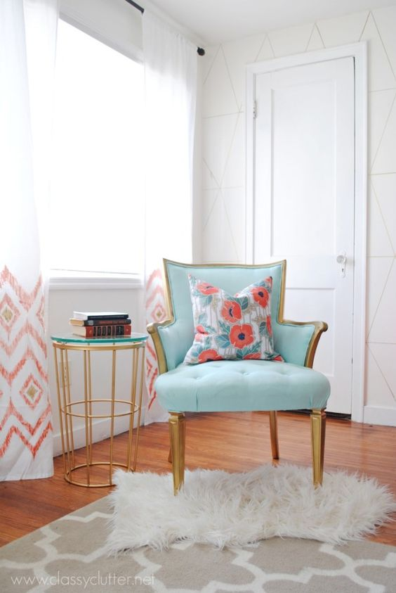 Coral and Mint Living Room Reveal -