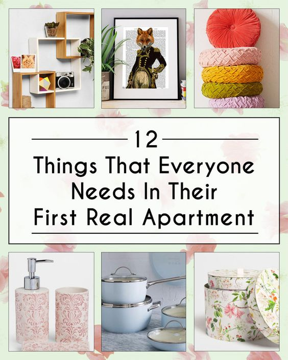 12 things that everyone needs in their first real