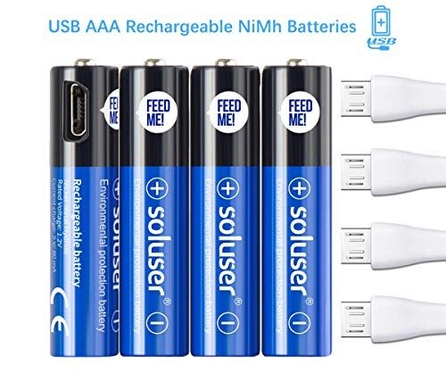 Aaa Rechargeable Batteries Usb Rechargeable Aaa Batteries 500mah With 4 Usb Ports High Capacity 1 2v Ni Mh Recycla Usb Rechargeable Usb Rechargeable Batteries