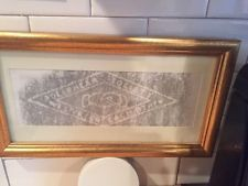 Vintage Alpha Delta Pi Sorority Adelphean Society Plaque Framed Rubbing