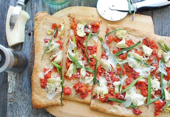 Rustic Savory Slab Pizza