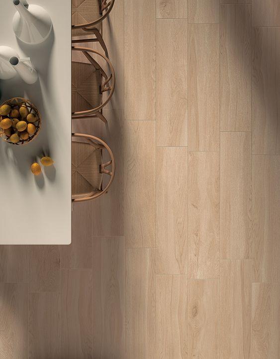 Keramisch parket geef je interieur of terras een warm gevoel van hout maar toch het makkelijk - Betegeld wit parket effect ...