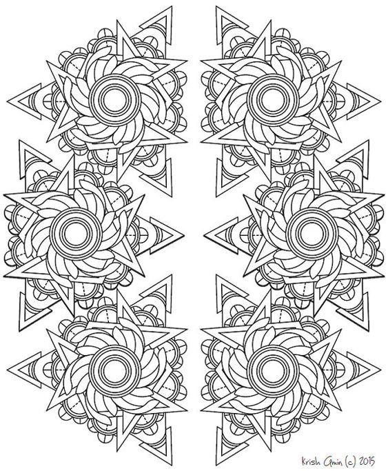 Mandala Adult Coloring Page from Zen Out Vol. 1